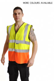 High Visibility Two Tone Safety Velcro Vest
